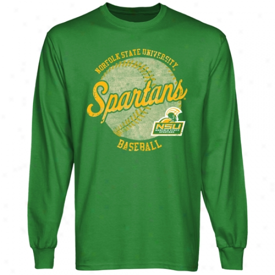 Norfolk Condition Spartans Original Pastime Long Sleeve T-shirt - Gresn