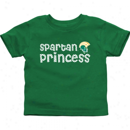 Norfolk State Spartans Toddler Princess T-shirt - Green