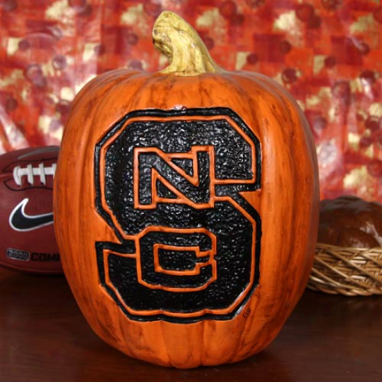 North Carolina State Wolfpack 12'' Resin Decorative Pumpkin