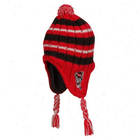 North Carolina Statte Wolfpack Infant/toddler Red Iceberg Ski-knit Beanie