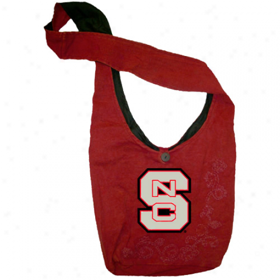 North Carolina State Wolfpack Ladies Red Groovy Over-the-shoulder Bag