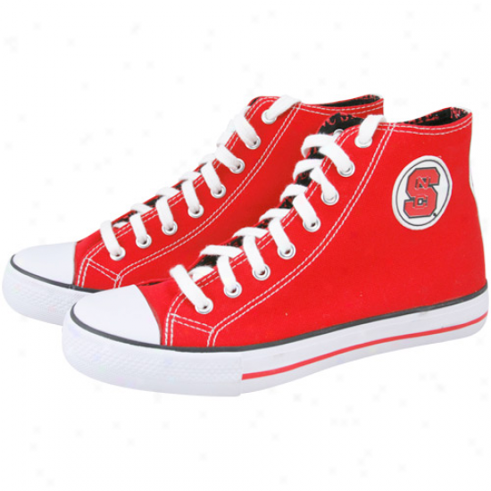 North Carolina State Wolfpack Red Hi-top Canvas Shoes