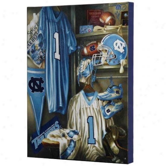 North Carolina Tar Heels (unc) 13'' X 17'' Locker Room Canvas Impression