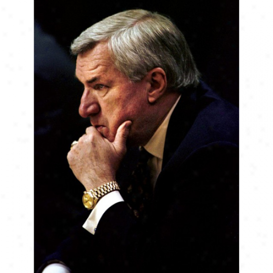 North Carolina Tar Heels (unc) 18'' X 24'' Coach Dean Smith Photographic Pint
