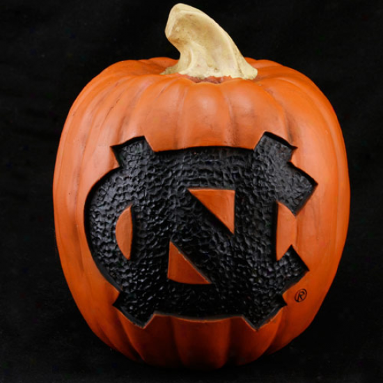 North Carolina Tar Heels (unc) 7'' Resin Decorative Pumpkin