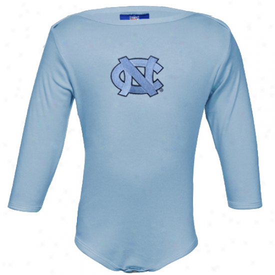 North Carolina Tar Heels (unc) Infant Carolina Blue Biig Bamblno A ~ time Sleeve Creeper
