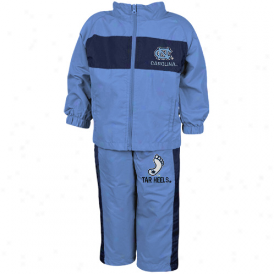 North Carolina Tar Heels (unc) Infant Carolina Blue Playbook Full Zip Jacket & Pants Set