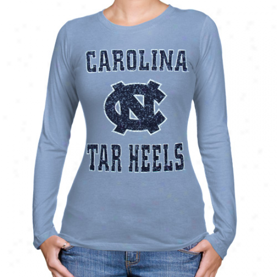 North Carolina Tar Heels (unc) Ladies Big Font Long Sleeve T-shirt - Carolina Melancholy