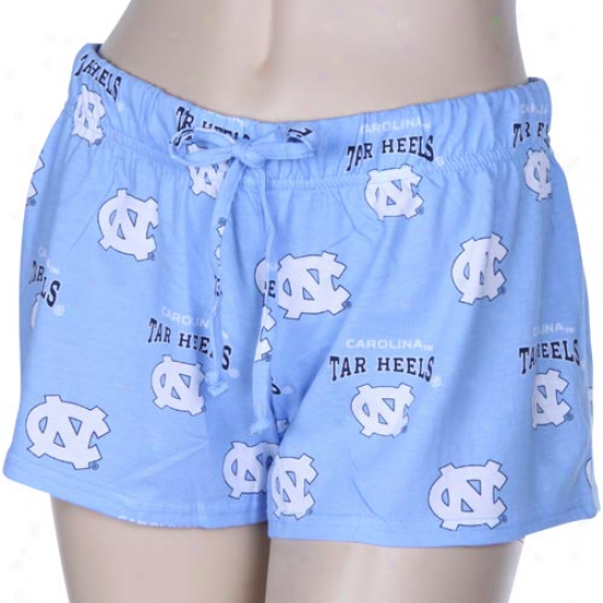 North Carolina Tar Heels (unc) Ladies Carolina Blue Supreme Shorts