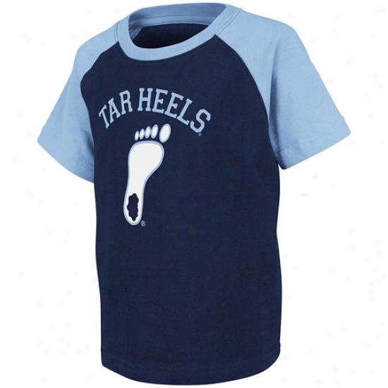 North Carolina Tar Heels (unc) Toddler Spike T-shirf - Navy Blue