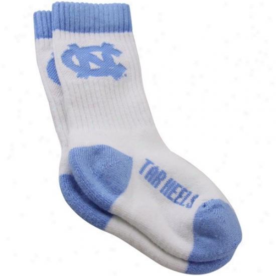 North Carolina Tar Heels (unc) Toddler White Crew Socks
