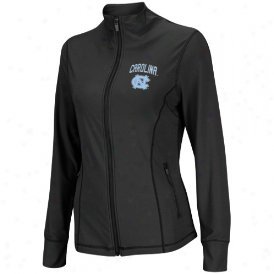 North Carolina Tar Heels (unc) Women's Plank Athletic Jacket - Charcoal