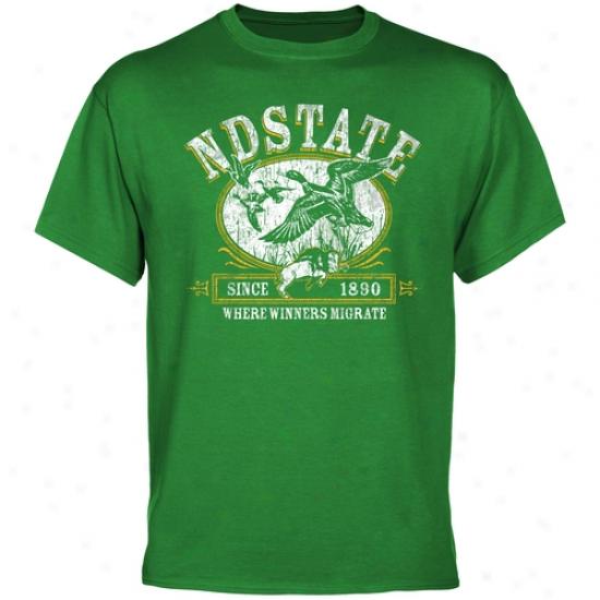 North Dakota Commonwealth Bison Winners Mitrate T-shirt - Green