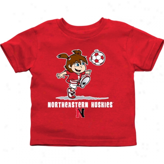 Northeastern Huskies Toddler Girls Soccer T-shirt - Red