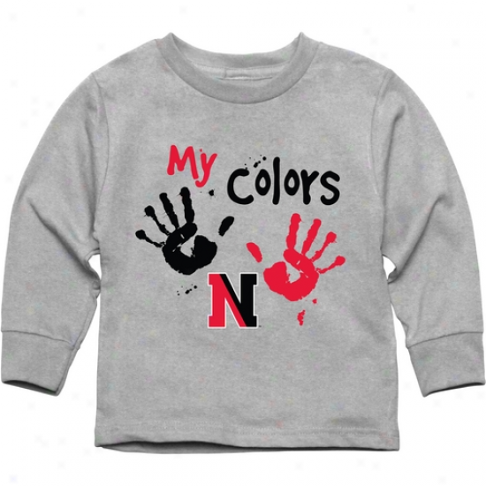 Northeastern Huskies Toddler My Colors Long Sleeve T-shirt - Ash