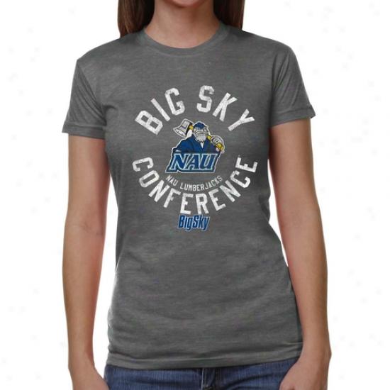 Northern Arizona Lumberjacks Ladies Conference Stamp Tri-blend T-shirt - Ash