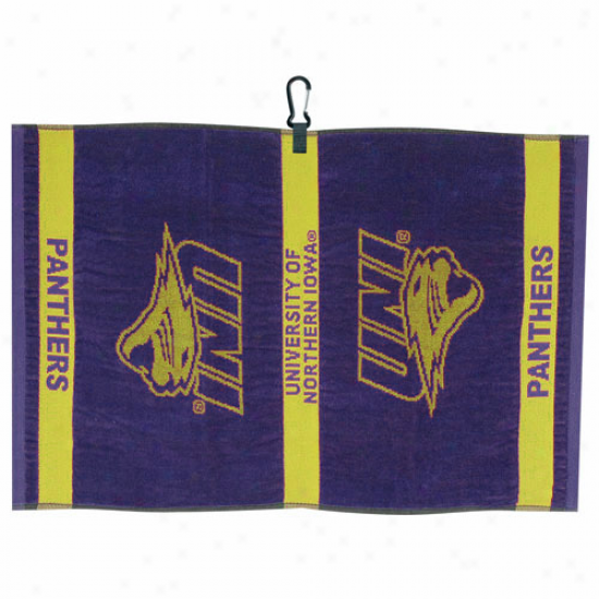 Northern Iowa Panthers Purple Jacquard Woven Golf Towel