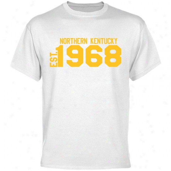 Northern Kentucky University Norse White Est. Date T-shirt