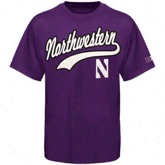 Northwestern Wildcats Big Ten Tailsweep T-shirt - Purple