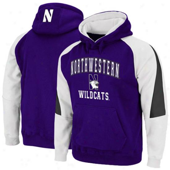 Northwestern Wildcats Purple-white Playmaker Pullover Hoodei Sweatshirt