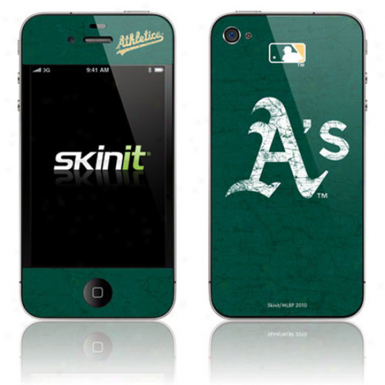 Oakland Athletics Green Iphone 4 Distressed Skin