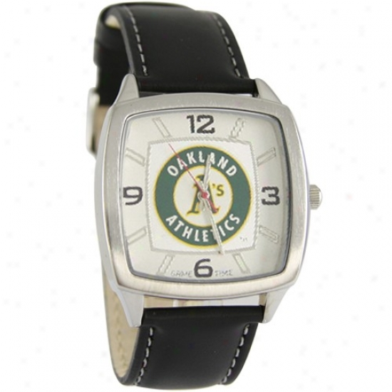 Oakland Athletics Retro Watch W/ Leather Band