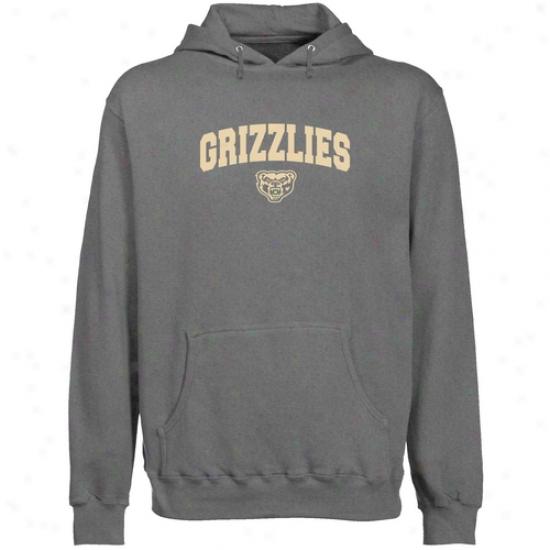 Oakland Golden Grizzlies Gunmetal Logo Arch Lightweight Pullover Hoody