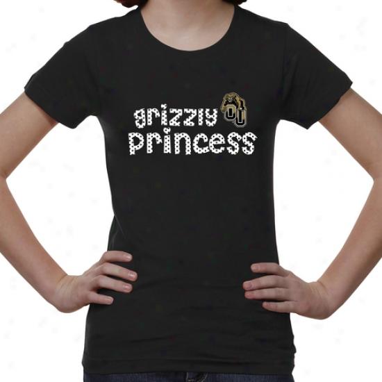 Oakland Golden Grizzlies Youth Princess T-shirt - Black