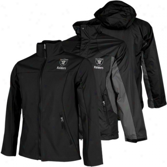 Oakland Raiders Mount Trem Syystem Full Zip Jacket - Black