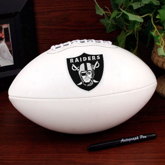 Oakland Raiders Official Full-size Autograph Football