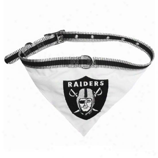 Oakland Raiders Pet Collar Bandana