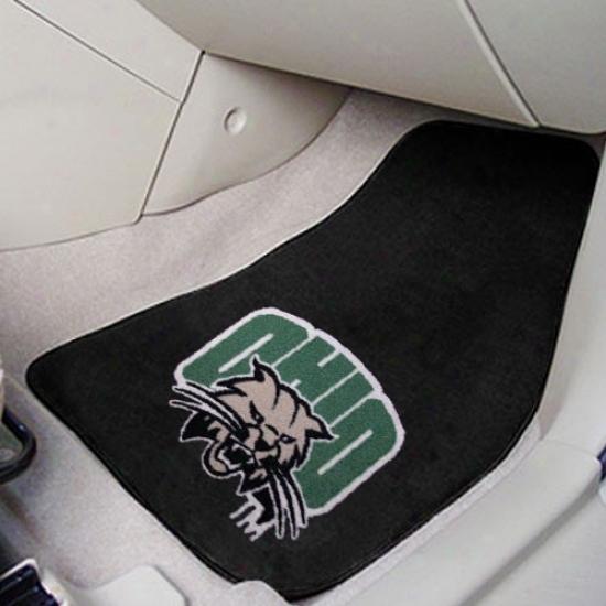 Ohio Bobcats Dark 2-piece Carpet Car Mat Fix