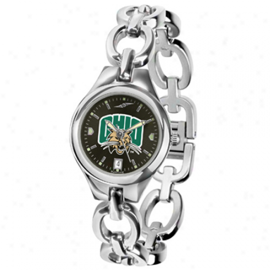 Ohio Bobcats Ladies Stainless Steel Eclipse Anochroje Watch
