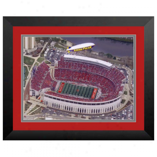 Ohio State Bucieyes 15'' X 20'' Blimp Stadium Framed Print