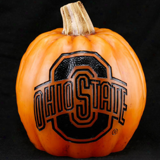 Ohio State Buckeyes 7'' Resin Decorative Pumpkin