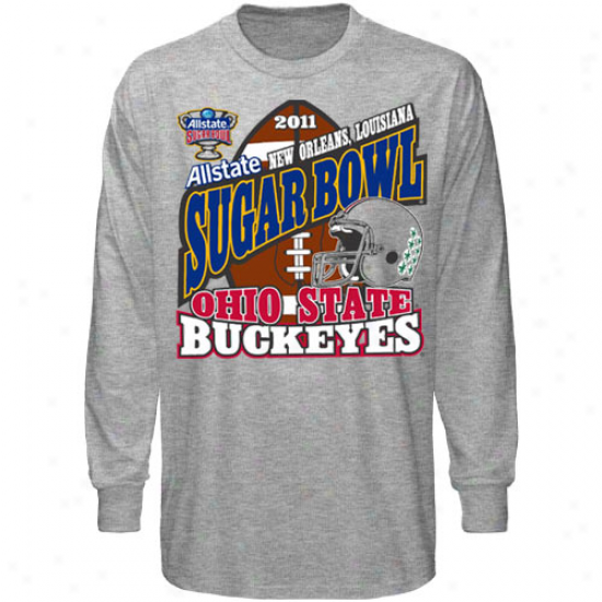 Ohio State Buckeyes Ash 2011 Sugar Bowl Bound Long Sleeve T-shirt