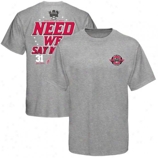 Ohio State Buckeyes Ash 2011 Sugar Bowl Champions Need We Say More Score T-shirt