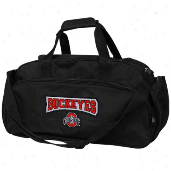 Ohio Condition Buckeyes Black Domestic Duffel Bag