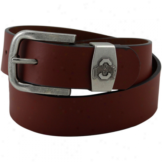 Ohio State Buckeyes Brown Keeper Leather Belt
