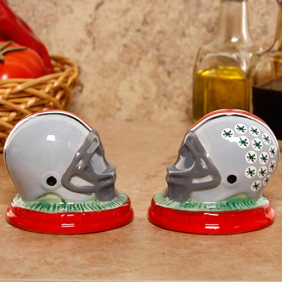 Ohio State Buckeyes Ceramic Helmet Salt & Pepper Shakers