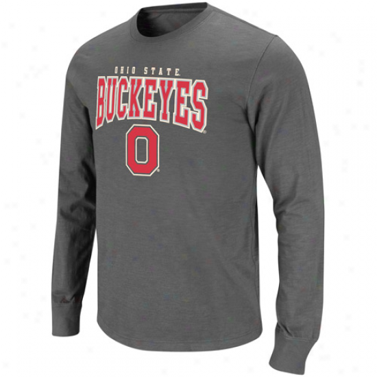 Ohio State Buckeyes Roadhouse Long Sleeve T-shirt - Charcoal