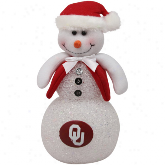 Oklahoma Sooners 10'' Light-up Tabletop Snowman