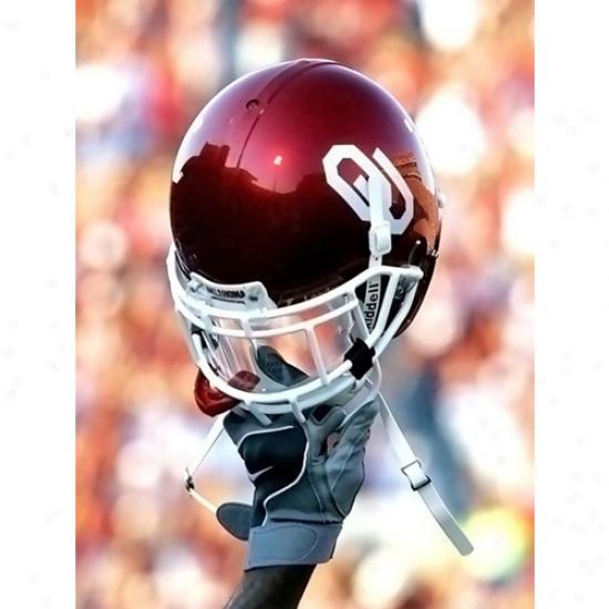 Oklahoma Soonefs 15'' X 20'' Raiised Helmet Photographic Print