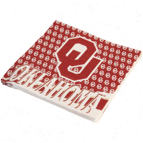 Oklahoma Sooners 16-pack Luncheon Napkins
