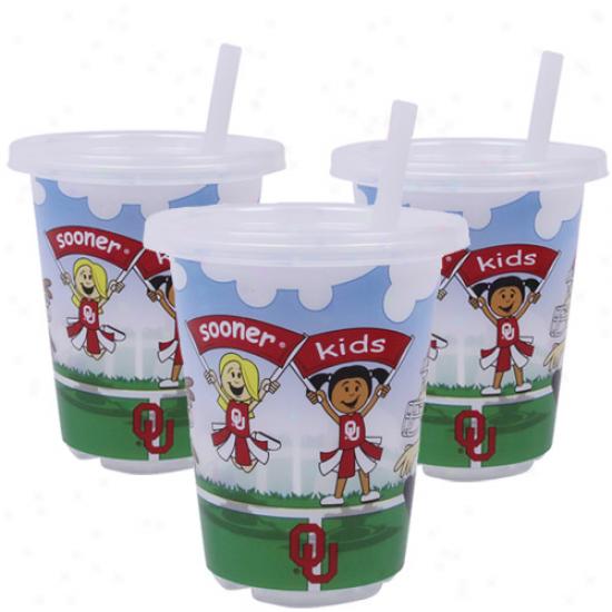 Oklahoma Sooners 3-pack 10oz. Sip N' Go Plastic Cups
