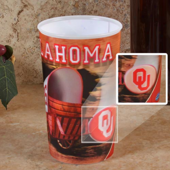 Oklahoma Sooners 3d Holographic 22oz. Plastic Cup