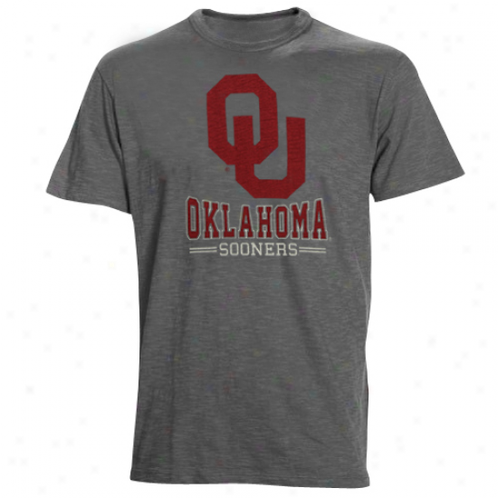 Oklahoma Sooners Backfield Slub T-shirt - Charcoal