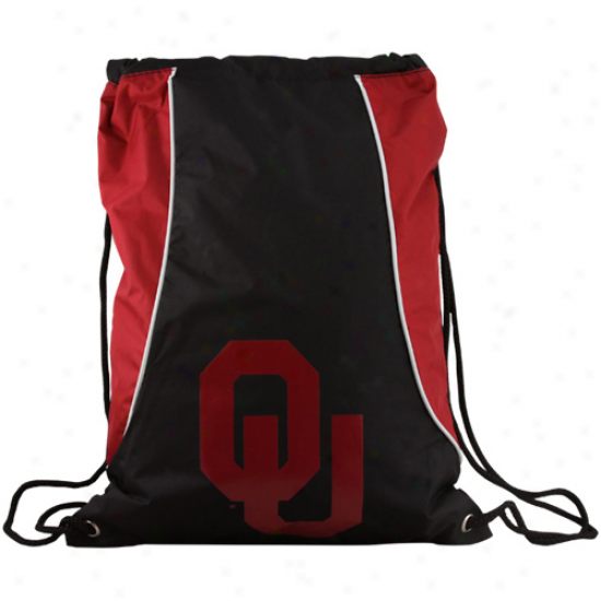 Oklahoma Sooners Black-crimson Axis Drawstring Backpack