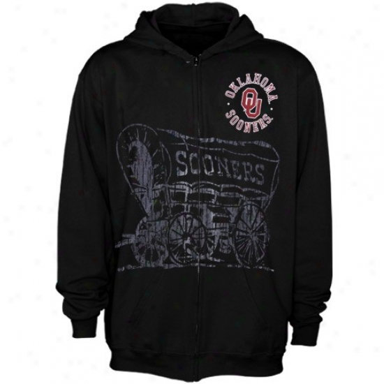 Oklahoma Sooners Black Zippity Full Zip Hoody Sweatshirt