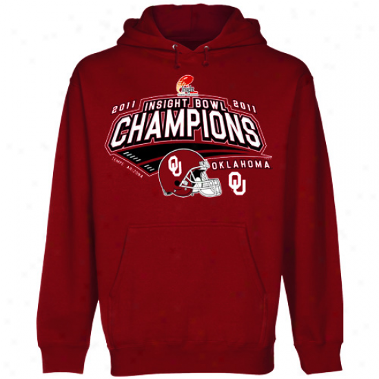 Oklahoma Sooners Crimson 2011 Insight Bowl Champions Pullover Hoodie Sweatshirt